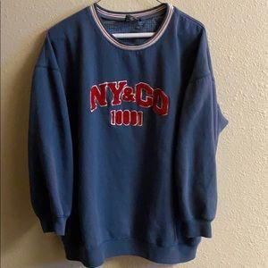✅ NEW YORK & COMPANY Crewneck Sweatshirt Spellout